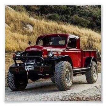 vintage pickup trucks poster | Zazzle.com