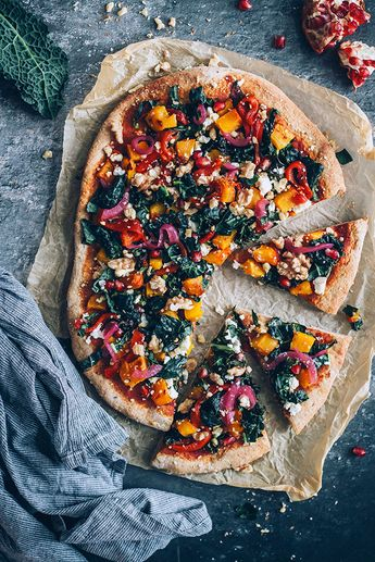 Vegetarian Pizza with My Favorite Autumn Toppings
