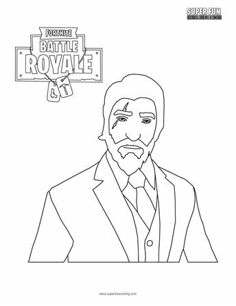 Print Fortnite Coloring Pages