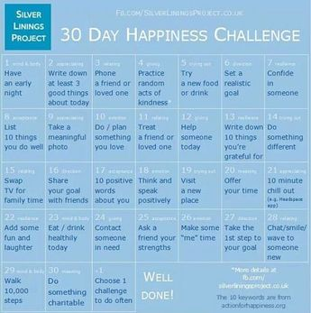 My Happiness Tips and The Happiness Challenge