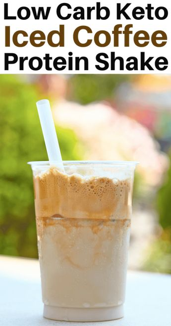 Low Carb Iced Coffee Protein Shake for Weight Loss