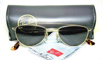 2ac5ff0c3f Details about Ray-Ban USA NOS Vintage B L 40s Retro Aviator W1758 24kGP  Arista New