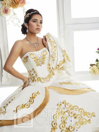 2f6316bebab Ruffled Charro Dress by House of Wu LA Glitter 24018