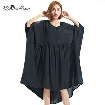 73eee57d0ca BelineRosa 17 Big Size Dress Plus Size Women Clothing 5XL 6XL 7XL Black Dresses  For Women