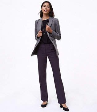 LOFT Tall Trousers in Button Pocket Tweed in Marisa Fit