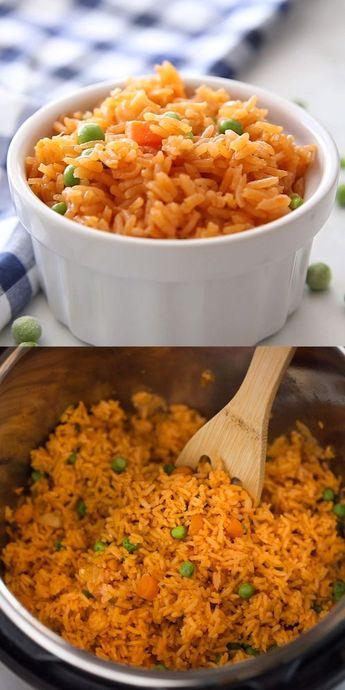 Dieses Instant Pot Mexican Rice Rezept ist meine Lieblingsbeilage für jedes mexikanische F ...