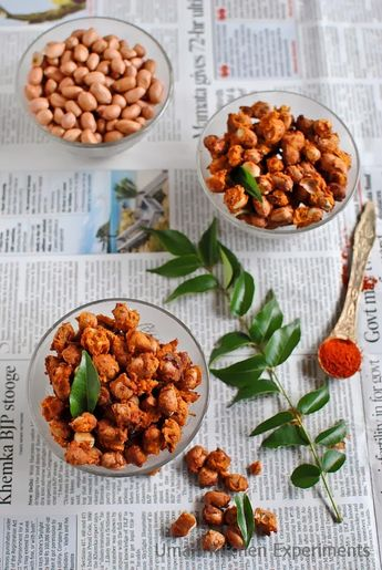 Baked Masala Peanuts ~ My Kitchen Experiments