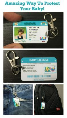 Has your baby wandered off, just for a second? Protect your little one with personalized identification. Address and phone numbers are all optional when you create your baby license. We are closely working with state officials on the importance of have ID cards for our children.