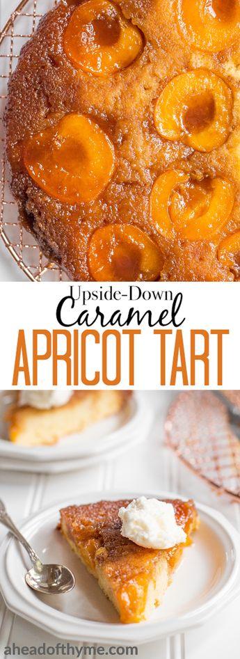 Upside-Down Caramel Apricot Tart