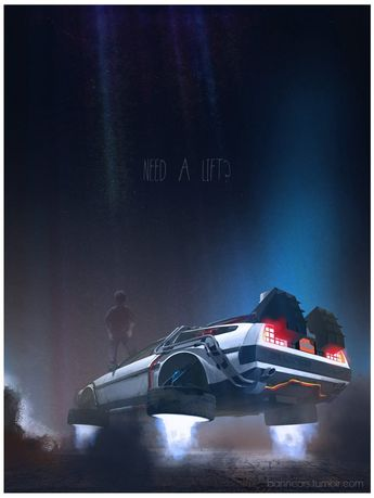 Iconic film and tv vehicule art by Nicolas Bannister : Retour vers le futur II www.facebook.com/banncars