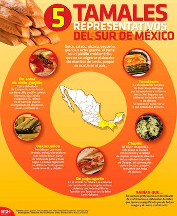 Hoy Tamaulipas - Infografía: 5 tamales representativos del sur de México