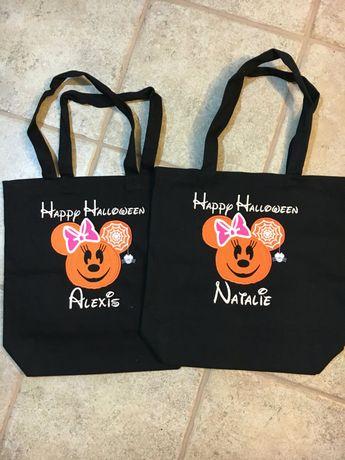 Spooktacular Glow in the Dark Disney Halloween Trick or Treat Bags