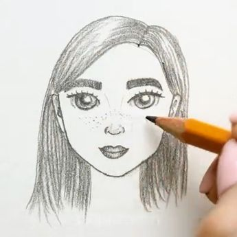 How to draw human lips ,eyes ,Nose the simplest way you will love to try