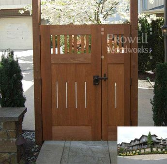 double wood gates