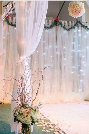 Tulle Backdrop Curtains -Wedding backdrop - Bridal Shower Backdrop - Birthday Backdrop