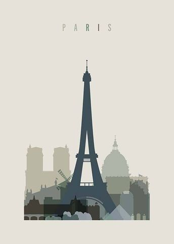 Paris Skyline Poster in the group Posters & Prints / Sizes / 50x70cm | 20x28 at Desenio AB (2355)