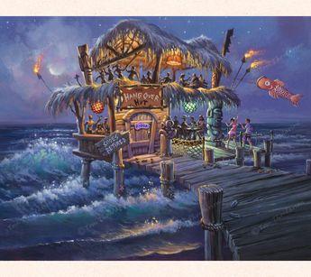 The Hangover Hut - Fantasy Art - Tom Thordarson - THOR ART #Hawaiiantattoos