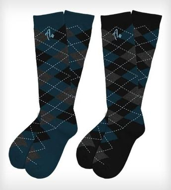 ..and the groomsmen wore argyle. Argyle Knee High Socks 2-Pack - Orion and Polaris by Argoz