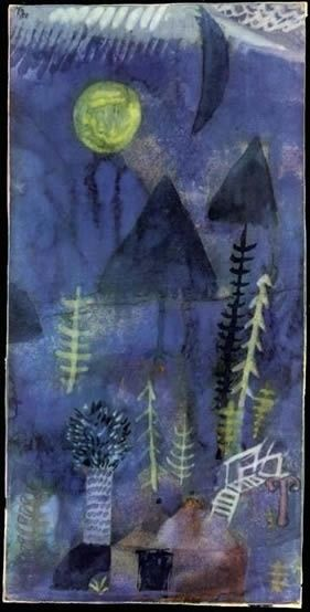 "afroui:""Paul Klee | Garden at Night"""