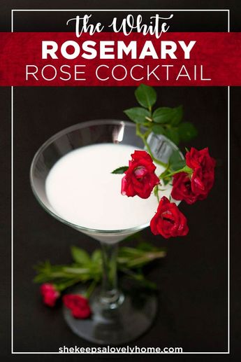 The White Rosemary Rose Coconut Cocktail