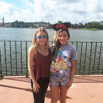 "Maddie & Tae on Instagram: ""Look out @radiodisney it's a Maddie & Tae-kover on Snapchat!! Follow us at radiodisney to see our @waltdisneyworld adventures!! #DisneySide #StartHereWorldTour"""