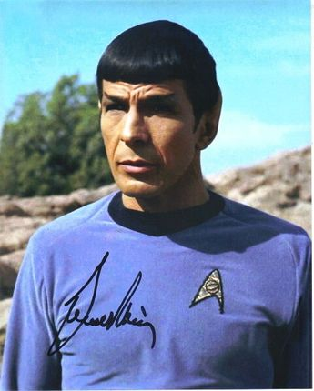 LEONARD NIMOY CLASSIC Star Trek TV Series Mr. Spock Autographed Picture #7 - $249.99 | PicClick