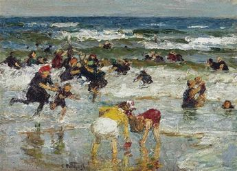 Edward Potthast, Playing in the Surf
