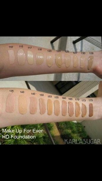 Shade chart!! Makeup forever -