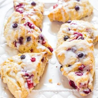 The BEST Scone Recipe (Glazed Mixed Berry Scones) - Averie Cooks