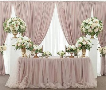 Two-tone Tulle Chiffon Table Skirt, Long Two-tone Tulle Chiffon Table Skirt, Two-tone Tulle Chiffon Tablecloth