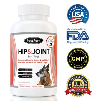 Hip and Joint for Dogs of All Ages Breeds and Sizes  Glucosamine Chondroitin MSM Formula  Arthritis Pain Relief  Extend Joint Care Support Supplement for Senior Dog  120 Chewable Tablets >>> Check out this great product. (This is an affiliate link)