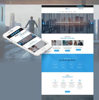 Investment Company Responsive Moto CMS 3 Template #63707