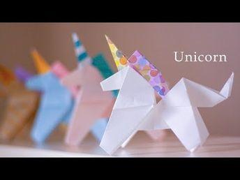 ユニコーンの折り方★☆How to make an origami Unicorn 【Origami Tutorial】 - YouTube