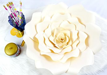 DIY Paper Rose Tutorial: Large Bella Rose Templates