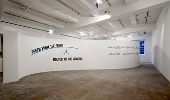 Lawrence Weiner exhibition, New York