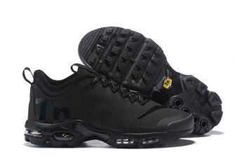 hot sale online c11f4 ff96f Mens Nike Air Max Plus Mercurial TN Trainers Triple Black AQ0242 001  aq0242-001h