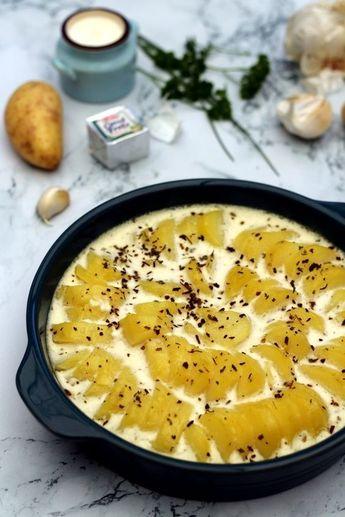 Gratin de pommes de terre au fromage ail & fines herbes