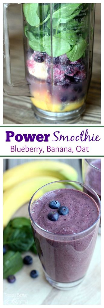 Power Smoothie (Blueberry, Banana, Oat)