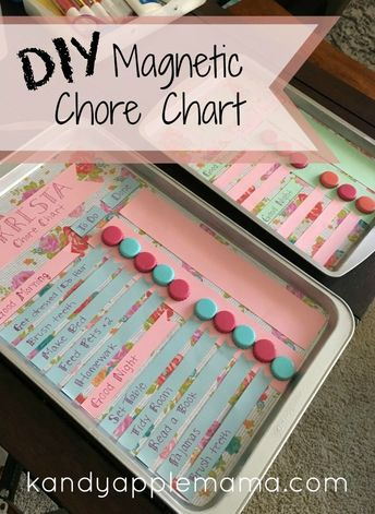DIY Magnetic Chore Chart + Free Printable