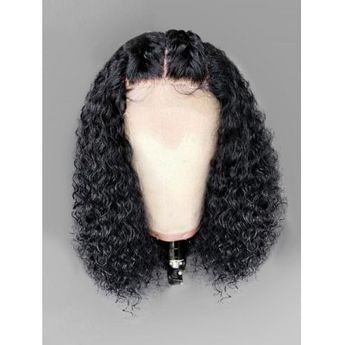 Long Middle Part Shaggy Curly Lace Front Synthetic Wig - $88.23 Free Shipping