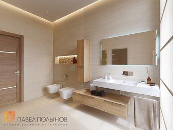 Фото: Дизайн душевой комнаты - Интерьер дома в современном стиле, коттеджный поселок «Небо», 272 кв.м.