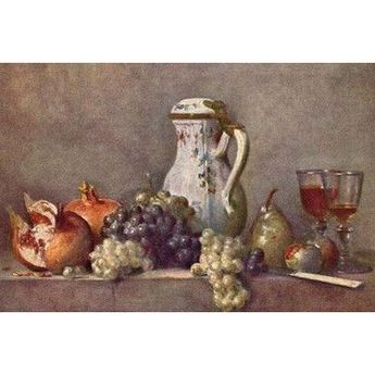 Buyenlarge 'Still Life with a Jug' by Jean Chardin Painting Print
