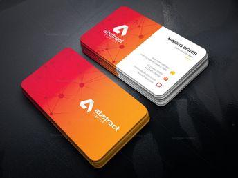 Orange Stylish Business Card - Graphic Templates