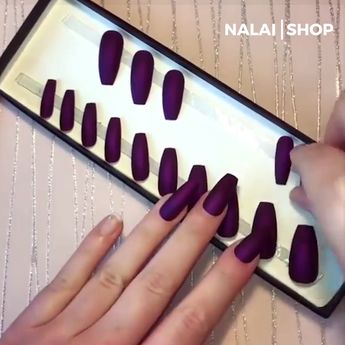 Hand Painted False Short Nails