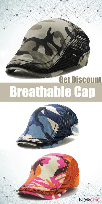 【2 for US$19.40】Fashion Mesh Cotton Beret Cap. #breathable #mensfashion #cap