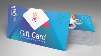 Excellent Corporate Gift Card Template - Graphic Templates