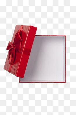 Red Texture Gift Box, Gift Clipart, Open, Empty PNG Transparent Image and Clipart for Free Download