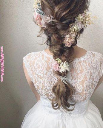 ブライダルスタイルにプリザのアクセを☆ 配置のバランスを考えて。 | Wedding in 2019 | Pinterest | Bridal hair, Wedding Hairstyles and Wedding « エレガントな #Shorthairwedding