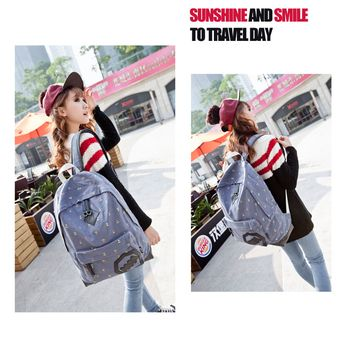 e51ded6877 AUGUR Simple Style Canvas Backpack for Colleague Students