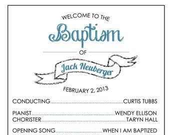 Simple Baptism Program LDS